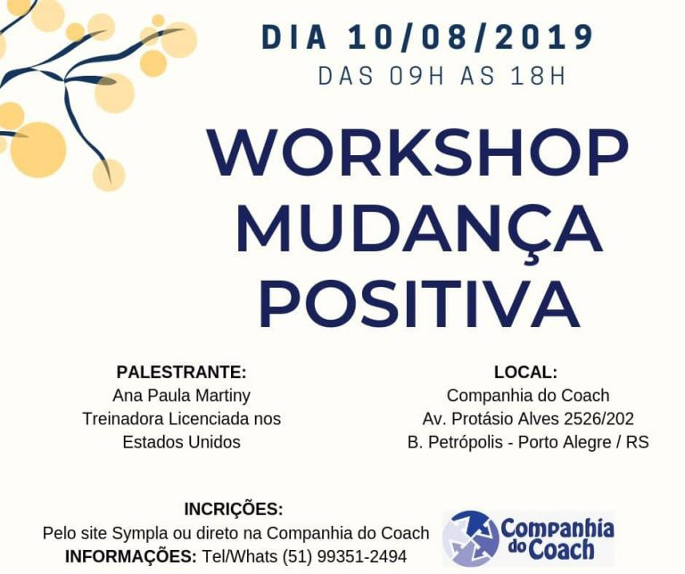 Workshop Mudança Positiva